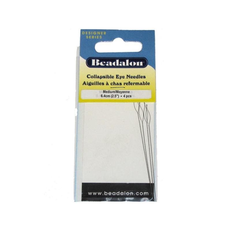Beadalon Collapsible Eye Needles Set 6.4 cm 4 Pack