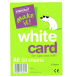 White Card A6 50 Pack