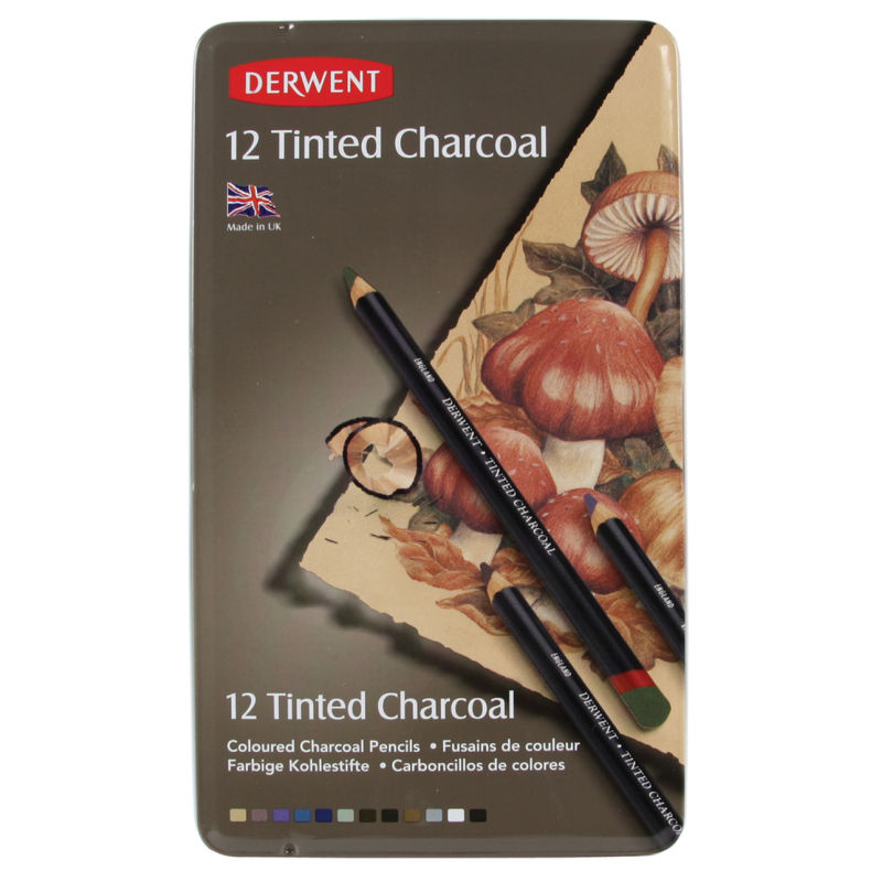 Derwent Tinted Charcoal 12 Piece Pencil Set