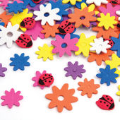 Adhesive Foam Flowers and Ladybirds