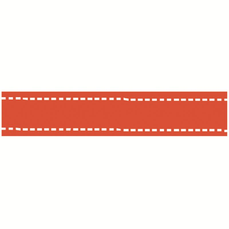 Red Grosgrain Running Stitch Ribbon 15 mm x 4 m