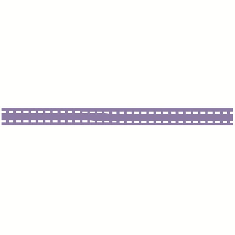 Lavender Grosgrain Running Stitch Ribbon 6 mm x 5 m