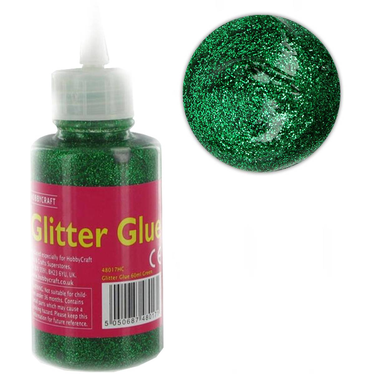 Green Glitter Glue 60 ml