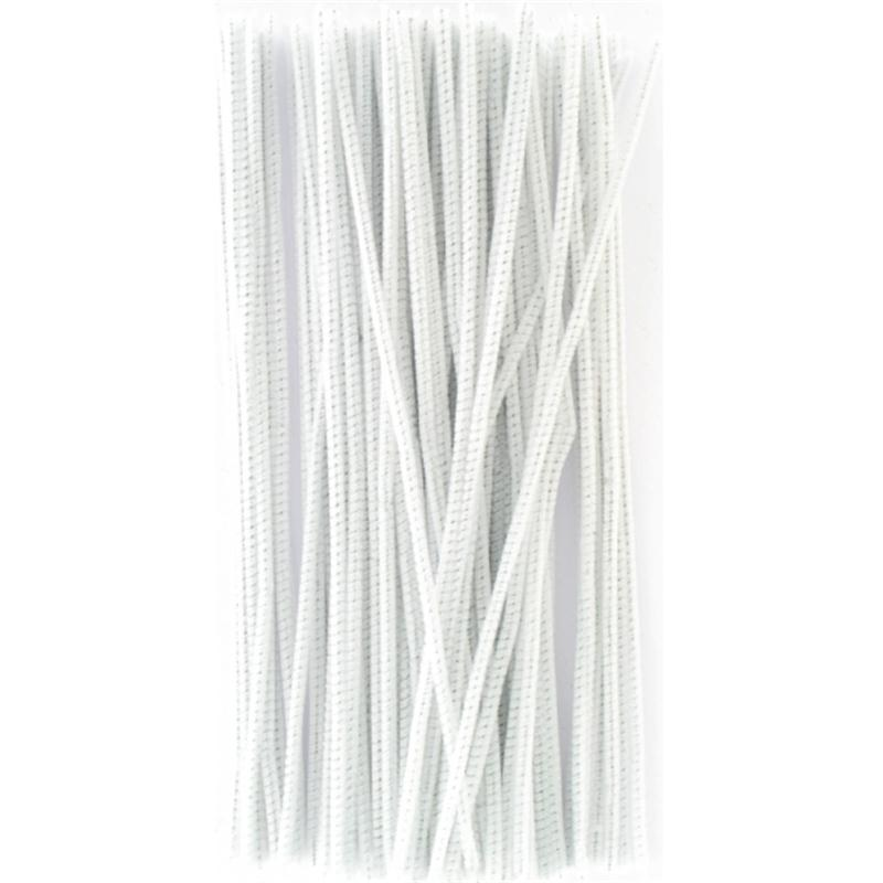 White Pipe Cleaners 6 mm 100 Pack