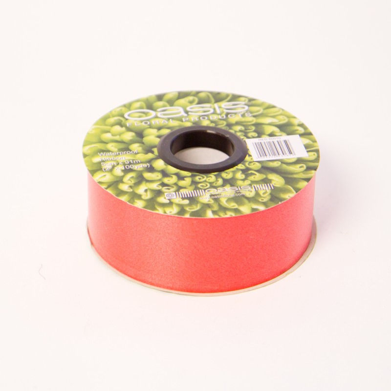 Oasis Red Poly Ribbon 5 cm x 91 m