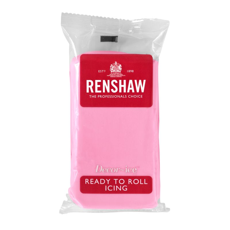 Renshaw Ready To Roll Pink Icing 250g