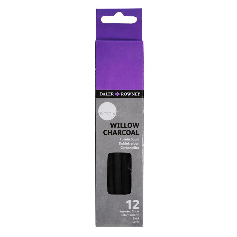 Daler Rowney Simply Willow Charcoal 12 Pack