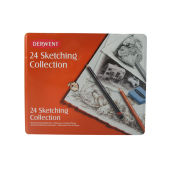 Derwent Sketching Collection 24 Piece Set of Mixed Drawing Materials