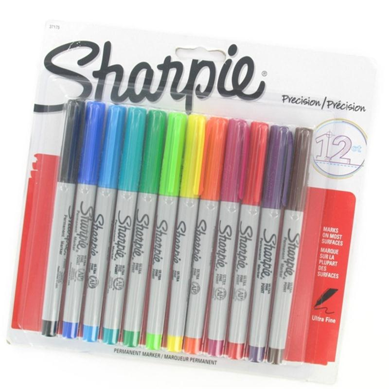 Sharpie Ultra Fine Tip Permanent Marker Assorted Colours x12