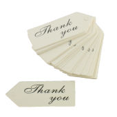 Ivory Thank You Tags 6 cm 25 Pack