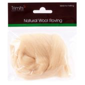 Trimits Natural Wool Roving Cream