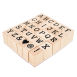 Bold Alphabet Wooden Stamps 30 Pack