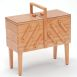 Wooden Cantilever Sewing Box