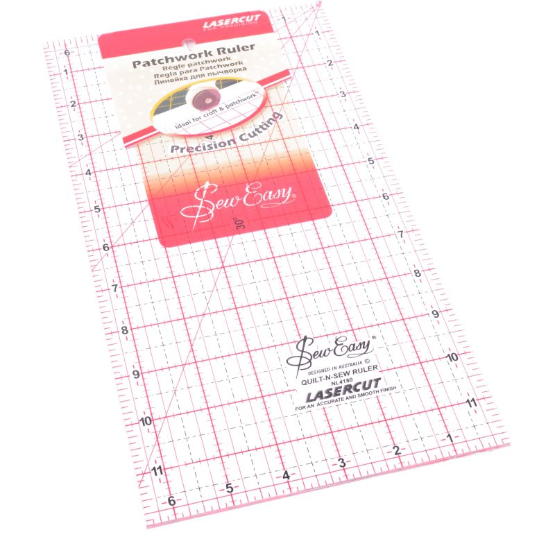 Sew Easy Patchwork Quilting Ruler 6 x 12 Inch