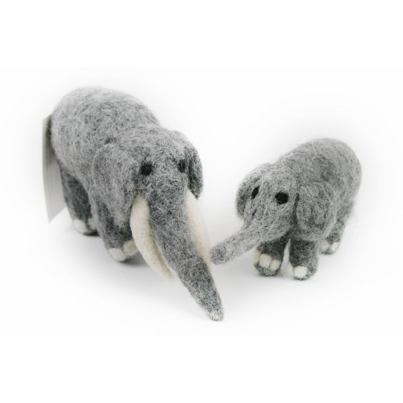 Elephant and Calf Needle Felting Kit