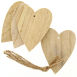 Natural Wooden Hanging Hearts 4 Pack