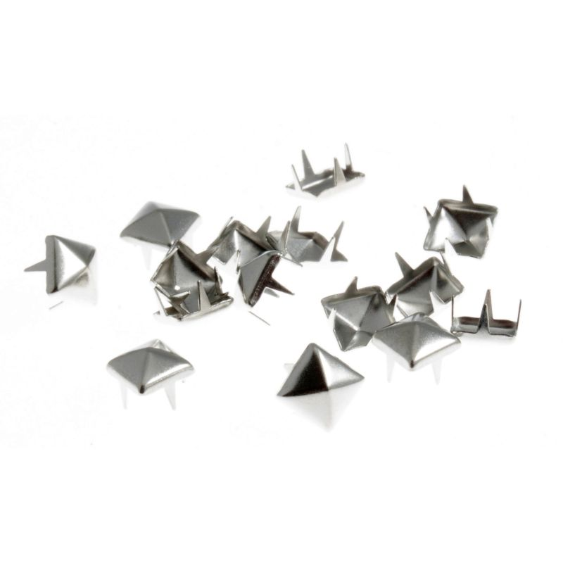 Square Claw Studs Silver 50 Pack
