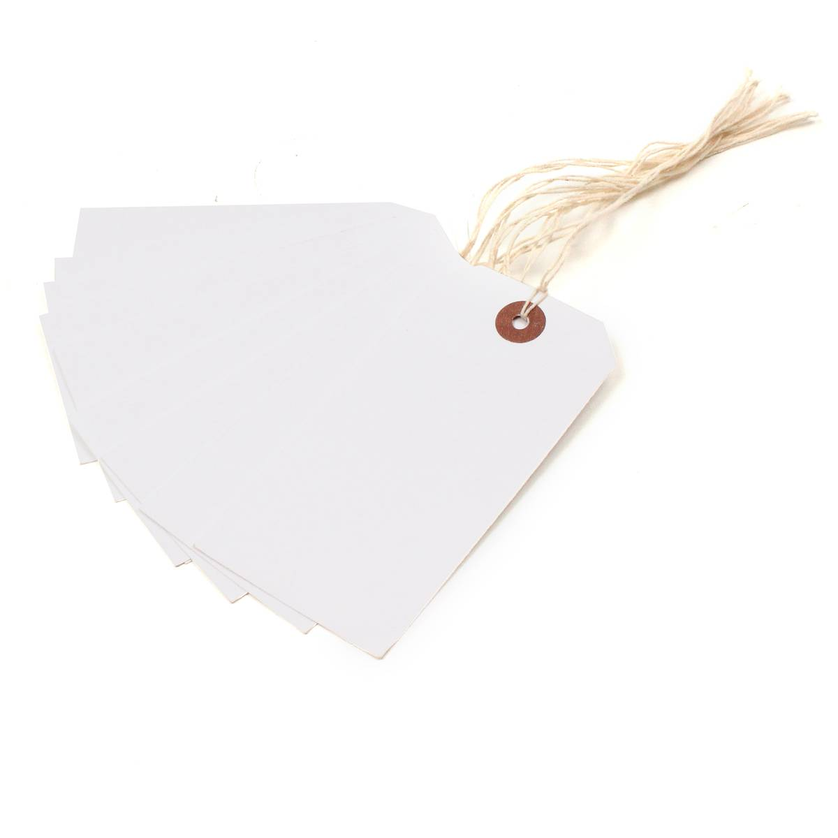 Blick White Luggage Tags 10 Pack