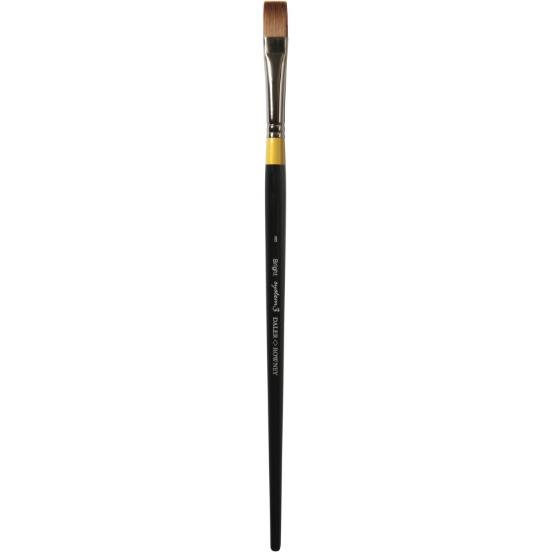 Daler Rowney System 3 Brush Bright Long Handle 0/8