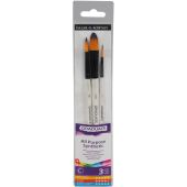Daler-Rowney All Purpose Synthetic Brushes 3 Pack