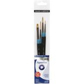 Aquafine Short Handled Watercolour Brushes Set 400 4 Pack