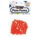 Orange Pom Poms 7 mm 50 Pack