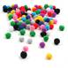 Assorted Pom Poms 7 mm 100 Pack