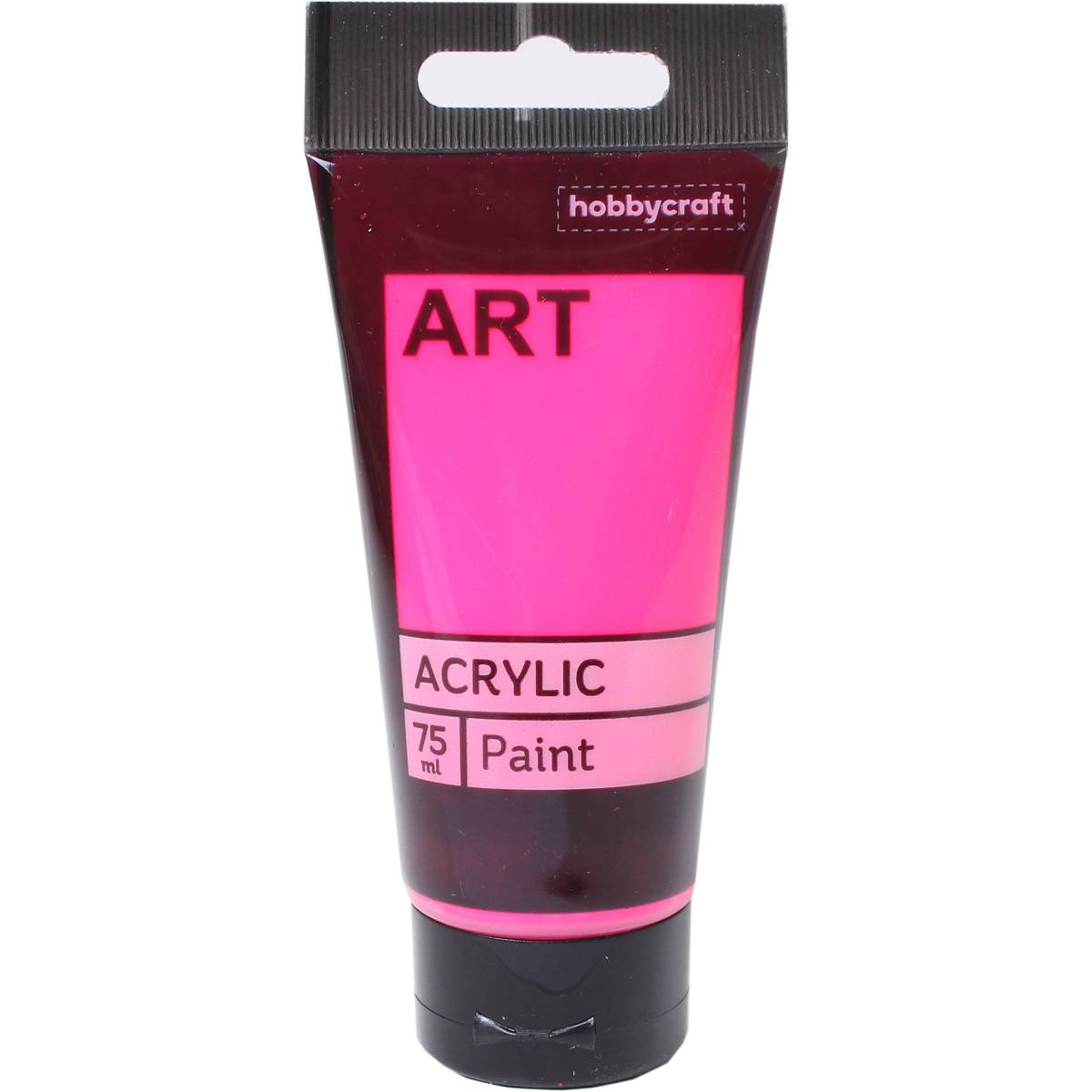 Neon Pink Art Acrylic Paint Tube 75ml