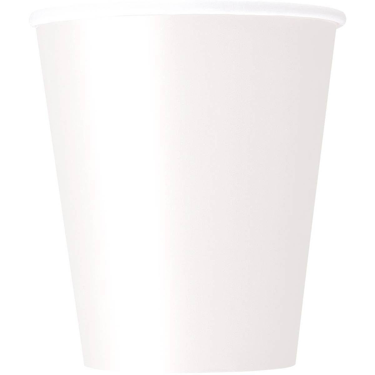 Bright White Paper Cups 8 Pack