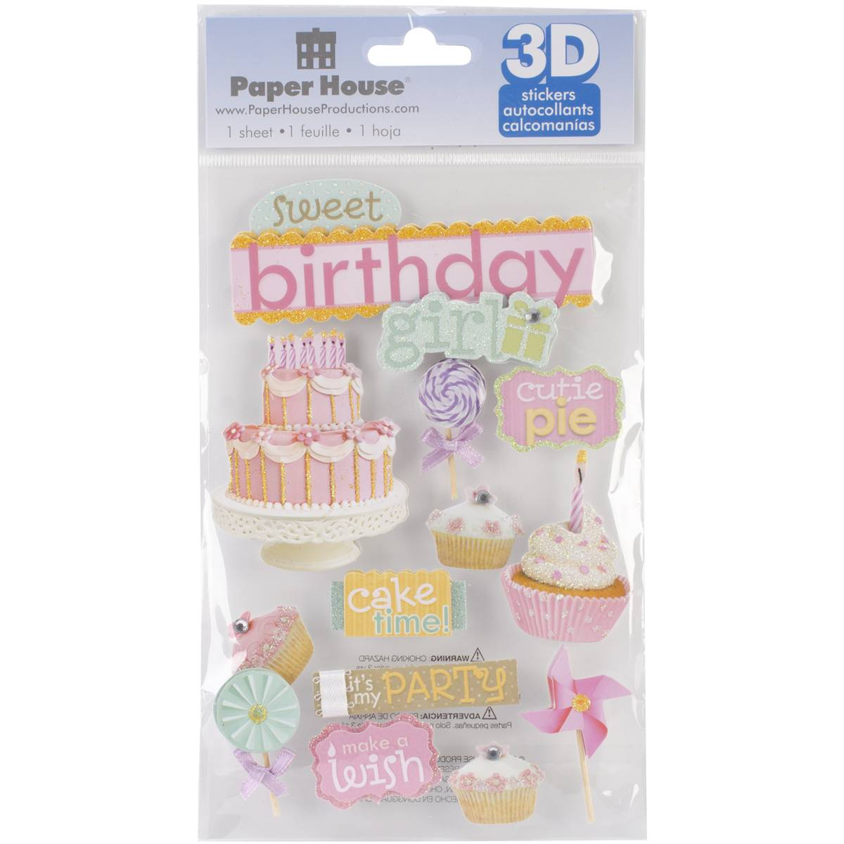 Paperhouse 3D Sweet Birthday Girl Stickers