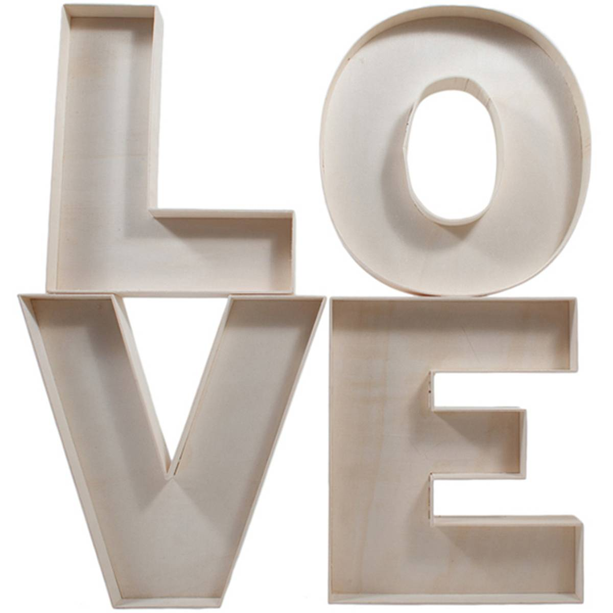 LOVE Fillable Letters 4 Pack