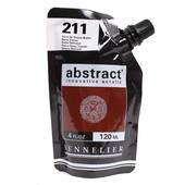 Sennelier Satin Burnt Sienna Abstract Acrylic Paint Pouch 120 ml