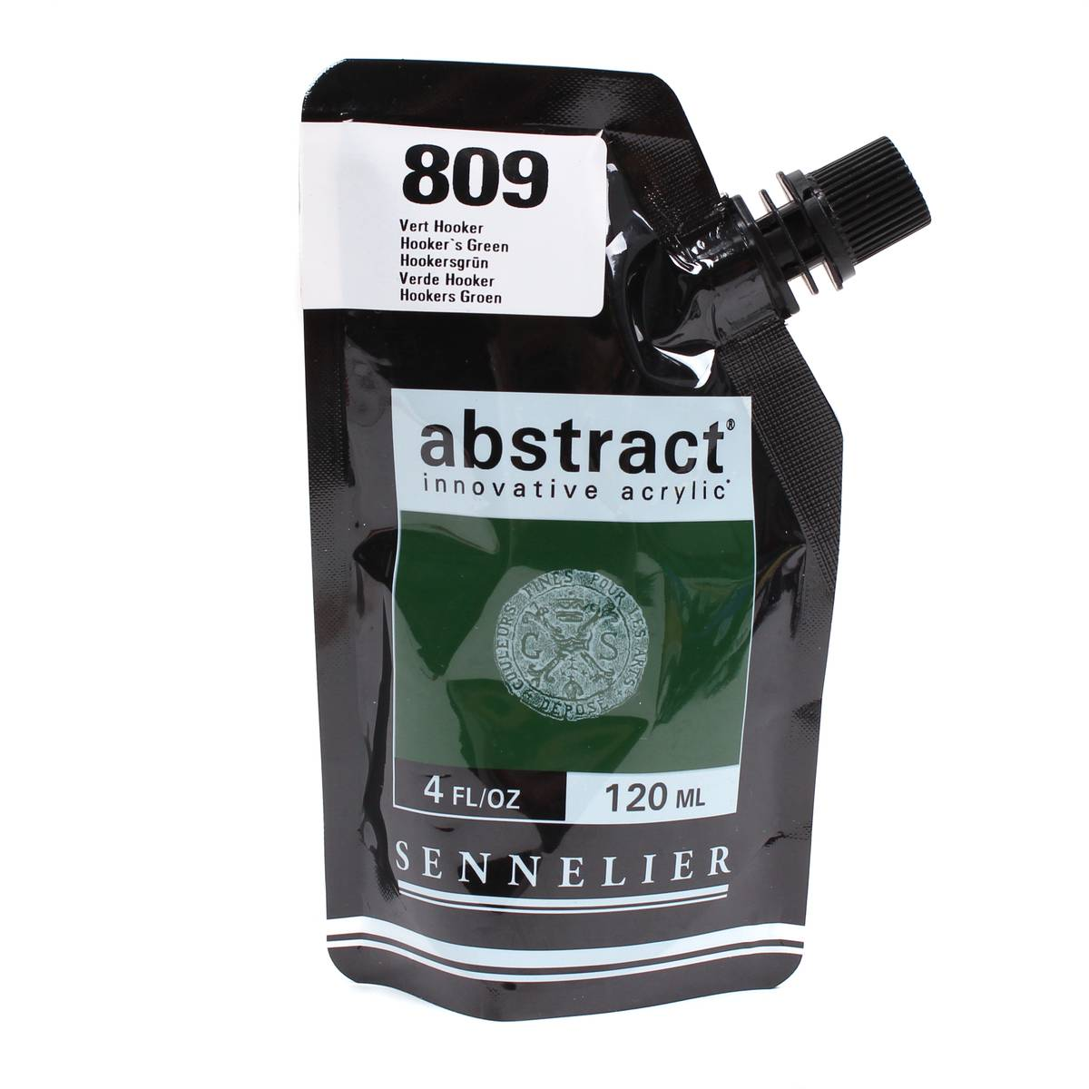 Sennelier Satin Hookers Green Abstract Acrylic Paint Pouch 120 ml