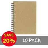 A5 Kraft Lined Notebook 10 Pack