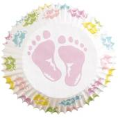 Wilton Baby Feet Cupcake Cases 75 Pack