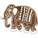 Fabric Creations Parade Elephant Block Printing Stamp 5.8 x 4.4 x 1.4 Inches