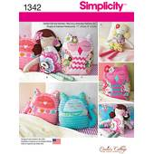 Simplicity Stuffed Doll and Animals Pattern 1342