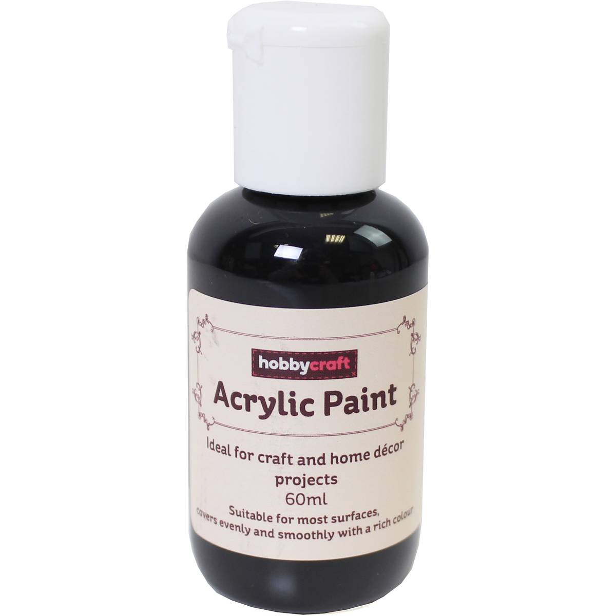 Black Home Craft Acrylic Paint 60ml