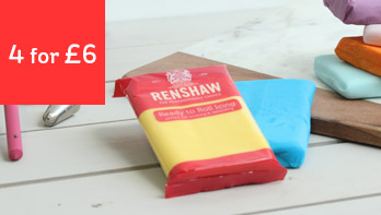 4 for £6 Renshaw Ready to Roll Icing